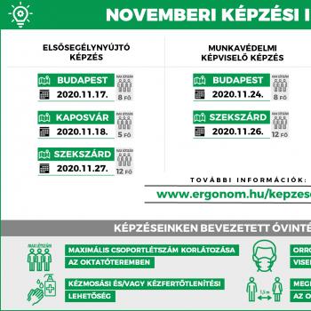 Novemberi képzési időpontok