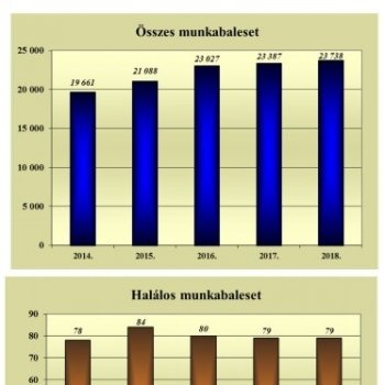 Munkabaleseti statisztika 2018